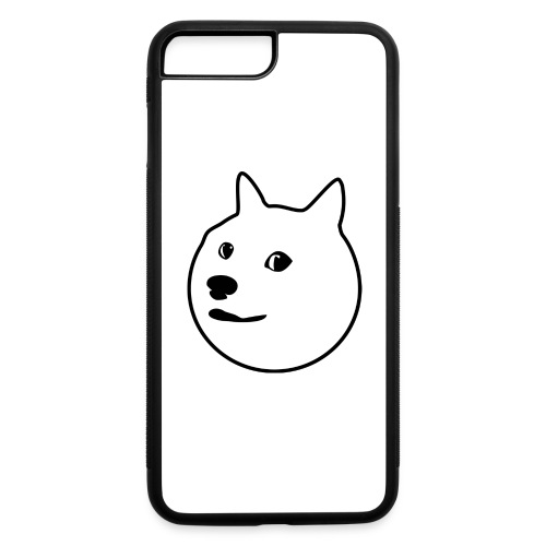 Black-Outlined Doge - iPhone 7 Plus/8 Plus Rubber Case
