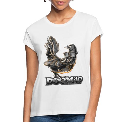 DooM49 Black and White Chicken - Women's Relaxed Fit T-Shirt
