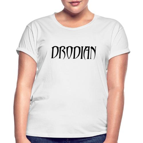 CLASSIC DRODIAN (BLACK LETTERS) - Women's Relaxed Fit T-Shirt