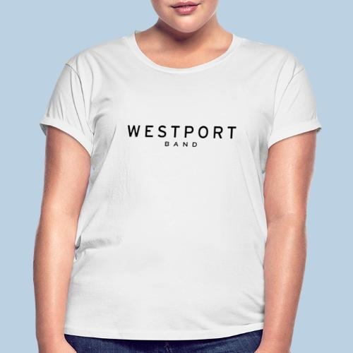 Westport Text Black on transparent - Women's Relaxed Fit T-Shirt