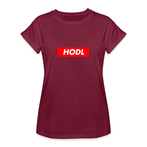 Hodl BoxLogo - Women's Relaxed Fit T-Shirt