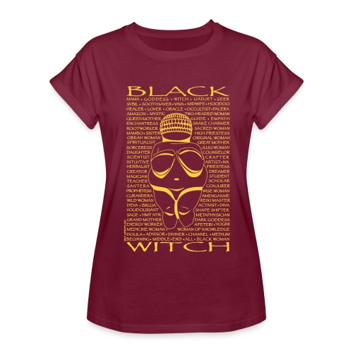 Black Witch Willa 1-yellow print - Women's Relaxed Fit T-Shirt