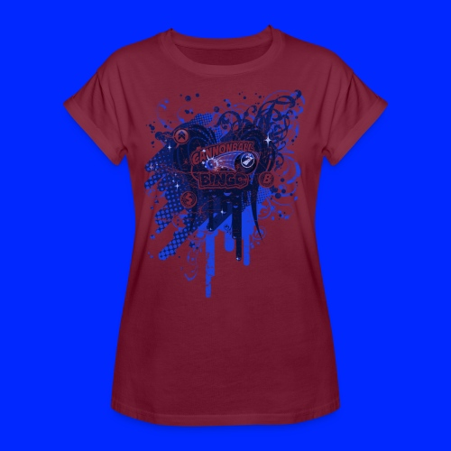 Vintage Cannonball Bingo Drip Blue - Women's Relaxed Fit T-Shirt