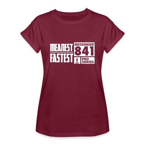 Messenger 841 Meanest and Fastest Crew Sweatshirt - Women's Relaxed Fit T-Shirt