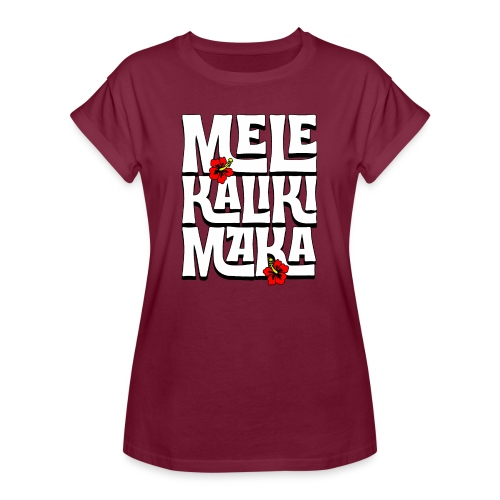 Mele Kalikimaka Hawaiian Christmas Song - Women's Relaxed Fit T-Shirt