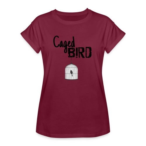 Caged Bird Abstract Design - Women's Relaxed Fit T-Shirt
