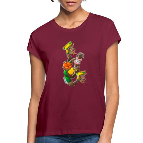 Acrobatic basketball player performing a high jump - Women's Relaxed Fit T-Shirt