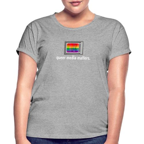 Queer Media Logo in Expanded Sizes - Women's Relaxed Fit T-Shirt