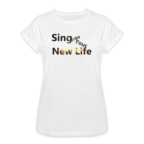 Sing in Brown - Women's Relaxed Fit T-Shirt
