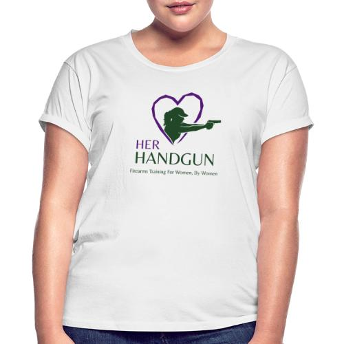 Official HerHandgun Logo with Slogan - Women's Relaxed Fit T-Shirt