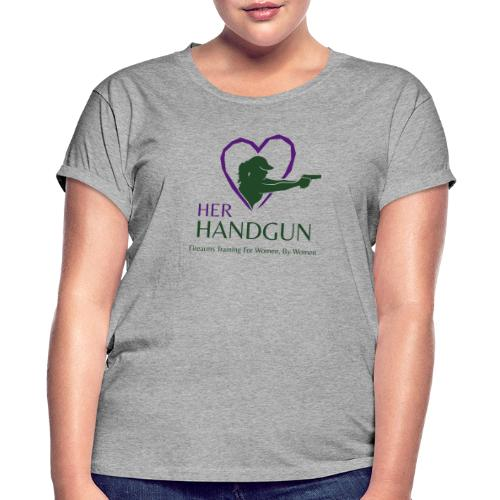 Official HerHandgun Logo with Slogan - Women's Relaxed Fit T-Shirt