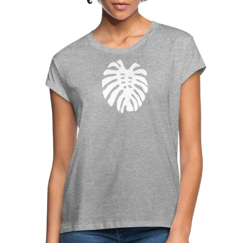Monstera Leaf motif - Women's Relaxed Fit T-Shirt