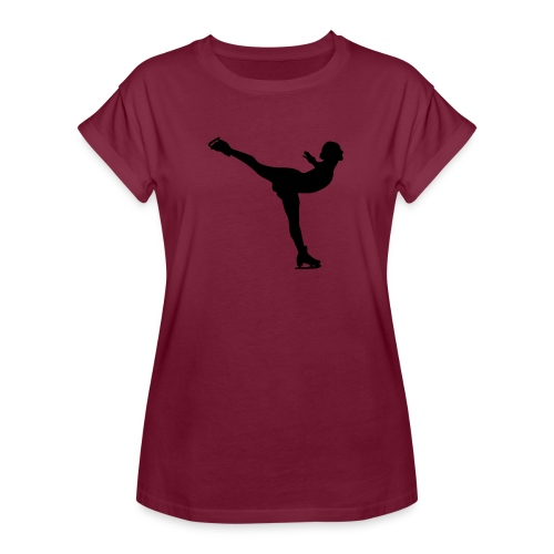 Ice Skating Woman Silhouette - Women's Relaxed Fit T-Shirt