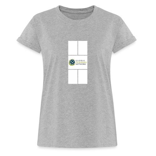 Global Pickleball Network Logo on White Court - Women's Relaxed Fit T-Shirt