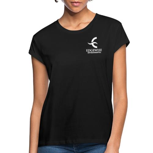 Edgewise Environmental (WHITE LOGO) - - Women's Relaxed Fit T-Shirt