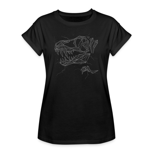 Jurassic Polygons by Beanie Draws - Women's Relaxed Fit T-Shirt