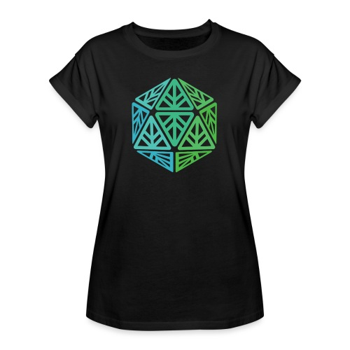 Green Leaf Geek Iconic Logo - Women's Relaxed Fit T-Shirt