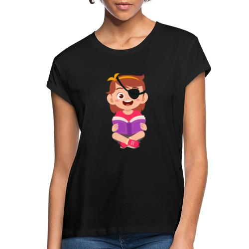 Little girl with eye patch - Women's Relaxed Fit T-Shirt