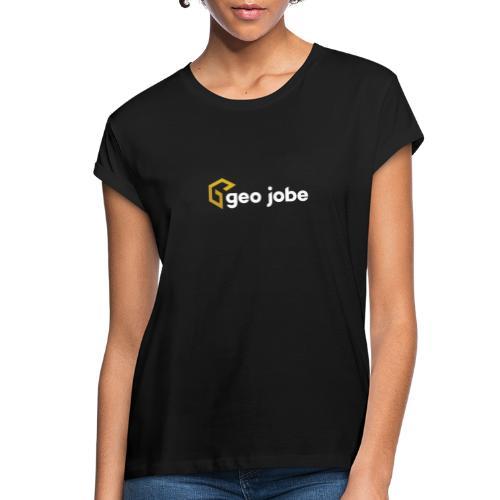 GEO Jobe Corp Logo White Text - Women's Relaxed Fit T-Shirt