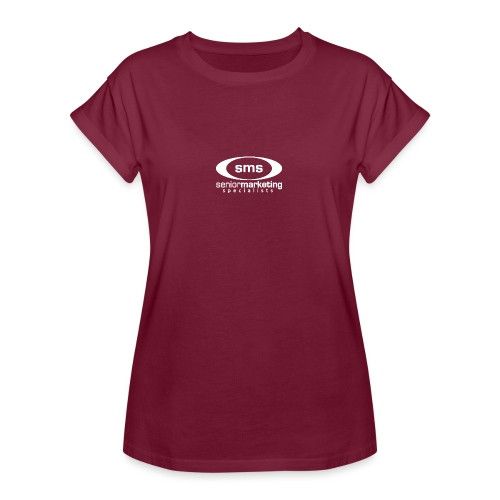 SMS White Logo - Women's Relaxed Fit T-Shirt