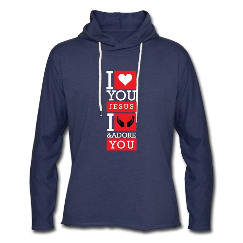 I Love You Jesus - Unisex Lightweight Terry Hoodie