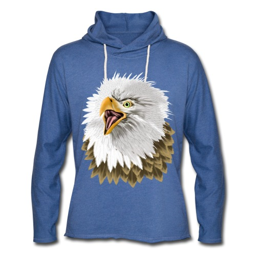 Big, Bold Eagle - Unisex Lightweight Terry Hoodie