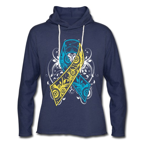 Down syndrome Ribbon - Unisex Lightweight Terry Hoodie