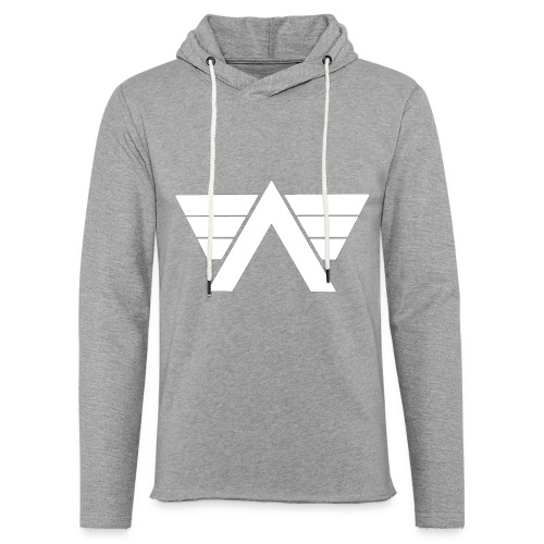 Bordeaux Sweater White AeRo Logo - Unisex Lightweight Terry Hoodie