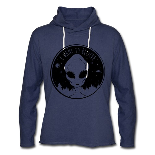 I Want To Believe - Unisex Lightweight Terry Hoodie