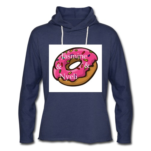 A cute donut W/ our channel name - Unisex Lightweight Terry Hoodie