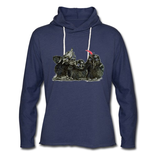 Three Young Crows - Unisex Lightweight Terry Hoodie