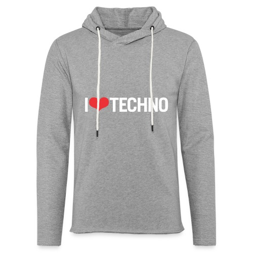 I Love Techno - Unisex Lightweight Terry Hoodie