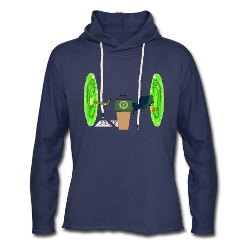 Trump and the Space Portal - Unisex Lightweight Terry Hoodie