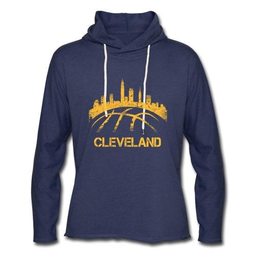 Cleveland Basketball Skyline - Unisex Lightweight Terry Hoodie