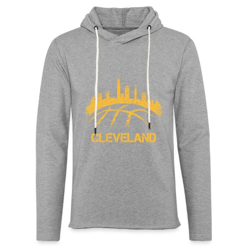 Cleveland Basketball Skyline - Unisex Lightweight Terry Hoodie