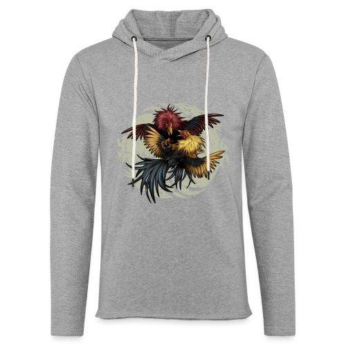 Ying Yang Gallos by Rollinlow - Unisex Lightweight Terry Hoodie