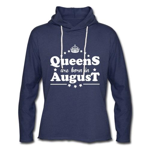 Queens are born in August - Unisex Lightweight Terry Hoodie