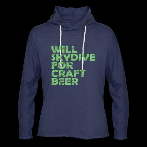 skydive for craft beer - Unisex Lightweight Terry Hoodie
