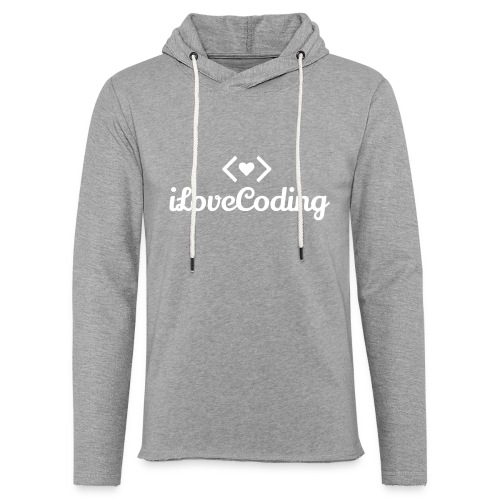 I Love Coding - Unisex Lightweight Terry Hoodie