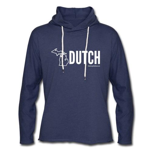 Michigan Dutch (white) - Unisex Lightweight Terry Hoodie