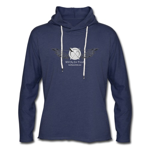 Will Fly For Food - Unisex Lightweight Terry Hoodie
