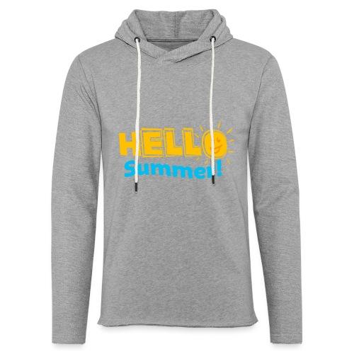 Kreative In Kinder Hello Summer! - Unisex Lightweight Terry Hoodie