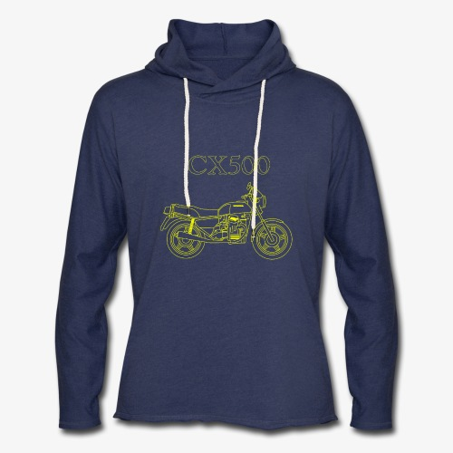 CX500 line drawing - Unisex Lightweight Terry Hoodie