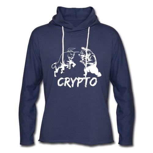 CryptoBattle White - Unisex Lightweight Terry Hoodie