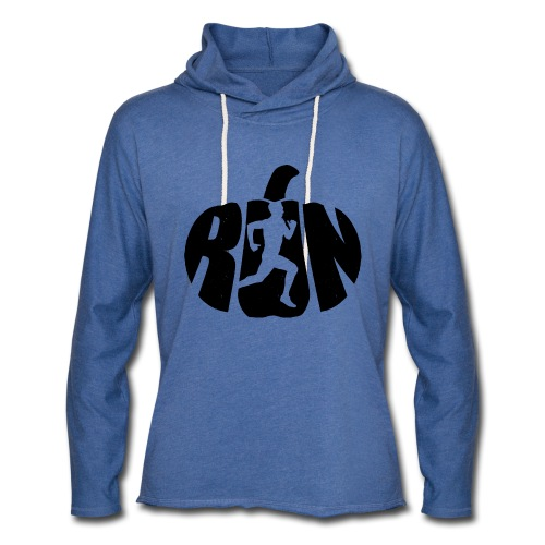 Halloween Running Pumpkin - Unisex Lightweight Terry Hoodie