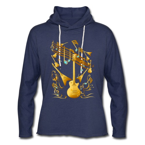 Gold Guitar Party - Unisex Lightweight Terry Hoodie