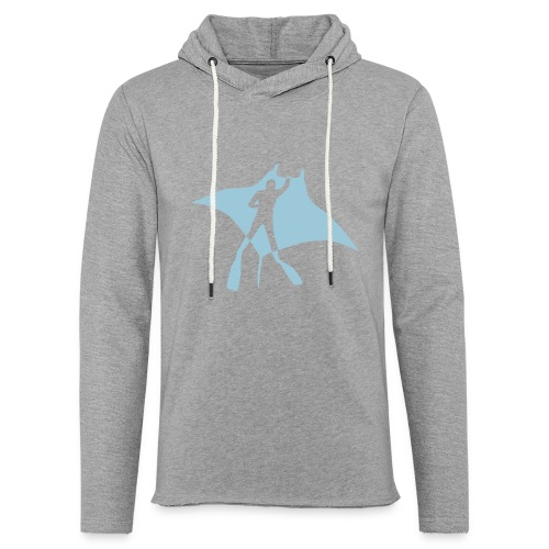 manta ray sting scuba diving diver dive fish ocean - Unisex Lightweight Terry Hoodie