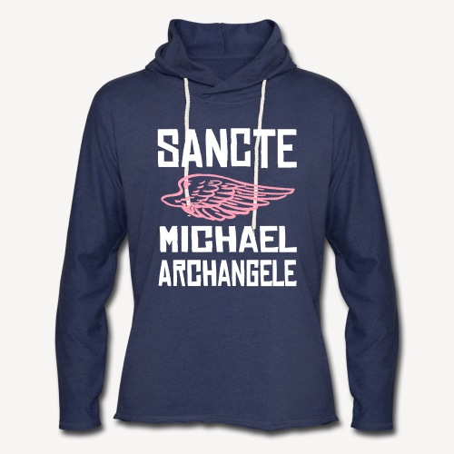 SANCTE MICHAEL ARCHANGELE - Unisex Lightweight Terry Hoodie
