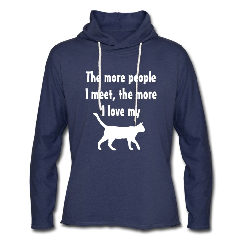 I love my cat - Unisex Lightweight Terry Hoodie