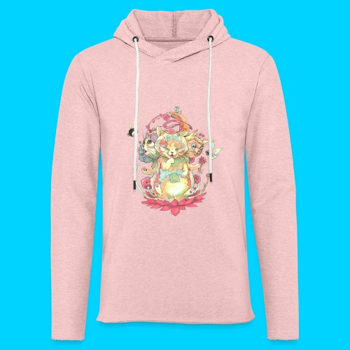 Contraption Brahma Neko - Unisex Lightweight Terry Hoodie